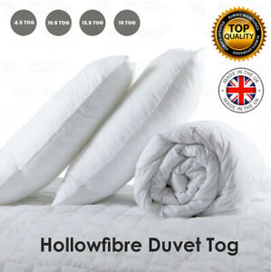 ANTI ALLERGY DUVET/QUILT 10.5 13.5 15 TOG BEDDING SET SINGLE DOUBLE KING SIZE UK
