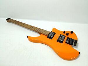 Kapok KAHL001/ORG Solid Maple Body Headless Electric Guitar,H-H Pickups+Free Bag