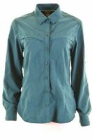 EDDIE BAUER Womens Shirt Size 16 Large Turquoise Nylon  DY15