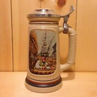 Vintage Collector THE SHIPBUILDER Avon USA Lidded Beer Stein Gift MUG