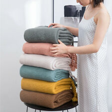 Knitted Tassel Throw Blanket Super Soft Warm Air Condition Office Home Blanket