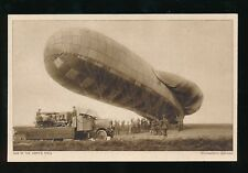 CANADA WW1 army AIRSHIP being inflated Official Daily Mirror PPC