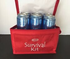 6  Blue Can In Cooler Bag Emergency Survival Drinking Water 50 Year Shelf Life