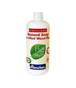 Blanchon Natural Soap for Oiled Wood Floors - 1Ltr Colourless or 1Ltr White