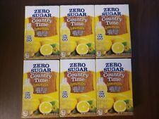 6 Boxes Country Time Lemonade Singles To Go Zero Sugar. 36 singles