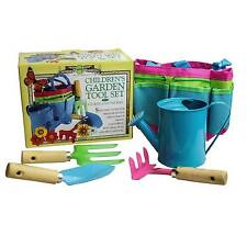 House of Marbles Children's Garden Toy Gardening Tools Set  Watering Can Trowel