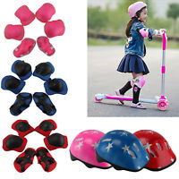 7Pcs/Set Boys & Girls Kids Skate Cycling Bike Safety Helmet Knee Elbow Pads