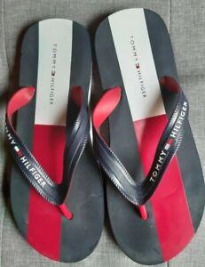 Mens tommy hilfiger flip flops size 7 to 8