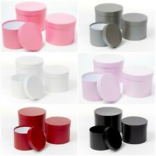 Symphony Lined Flower Hat Boxes - Set of 3 - Colour Choice