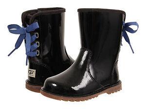 Toddler UGG Australia Corene Patent 1009191T Black 100% Authentic Brand New