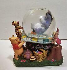 "Disney Eeyore w/ Winnie the Pooh ""Rumbly in my Tumbly"" Musical Snow Globe BROKEN"