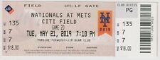 2019 May 21 New York Mets Vs Nationals TICKET Pete Alonso & Juan Soto Home Run