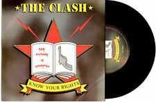 "THE CLASH - KNOW YOUR RIGHTS / FIRST NIGHT BACK IN LONDON - 7""45 RECORD 1982"