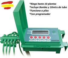 Kit temporizador programador riego Automatico a pilas con bomba 10 macetas