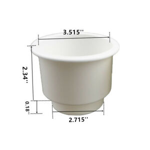 6PCS Tiered White Plastic Cup Drink Can Holder Part For Car Truck Boat Marine RV