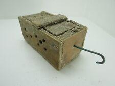 (#2635)  OLD WOOD DUNGENESS CRAB  LOBSTER SHRIMP BAIT TRAP JAR BOX CRAWFISH