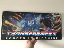 Vintage Transformers G1 Overlord Hanging Shop Store Display Sign Rare