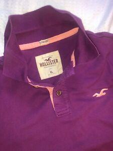 Holister Used Purple/Lilac Polo Shirt (Extra Large)
