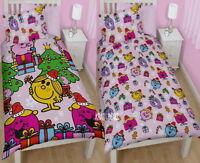 Mr Men Little Miss Merry Single Duvet Cover Bed Set New Gift