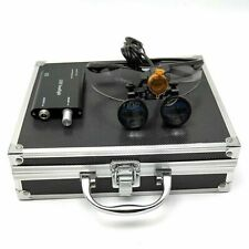 Dental 35x Binocular Loupes 3w Led Head Light With Filter Amp Aluminum Box Black