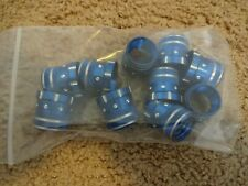 10 Rod Building Wrapping Blue/Silver Aluminum Decorative hoods size 16 seats
