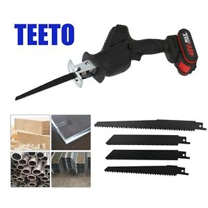 48V Electric Cordless Recip rocating Saw Recip Wood Cutting 4Blades Wood Battery