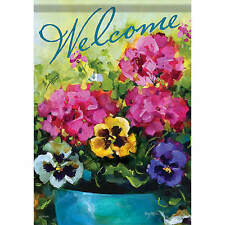 Large Size The Flowers Theme  Decorative House Banner Double-side Garden Flag