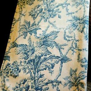Martha Stewart Blue Toile 🛀 Floral Fabric Shower Curtain