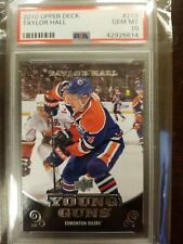 2010-11 Upper Deck Young Guns #219 Taylor Hall Oilers RC Rookie PSA 10