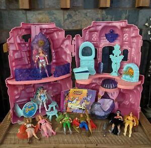 She-Ra Princess of Power POP Figure Vtg Playset CASTLE Near Complete RARE Comics