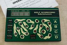 Seiko Electronic Golf Course Scorecard 4 Player Hole Strokes Putts Par Df-600