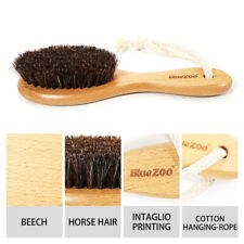 WOOD HANDLE HORSE HAIR BRISTLES LEATHER SHOE BODY BEARD BRUSH ALLURING