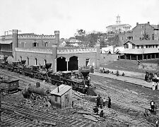 8x10 Civil War Photo Nashville, TN  Railroad depot with Capitol in the distance