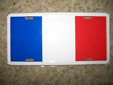 France French Aluminum License Plate Tag (6x12)