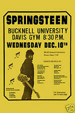 1970' Classic Rock: Bruce Springsteen at Bucknell University Concert Poster 1974