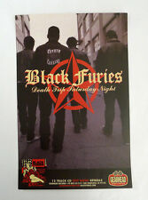 Black Furies promo poster SF Punk 11in x 7in full color Gearhead indie
