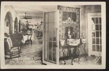 RP POSTCARD Crosby Cafe Villa Acuna Coah MEXICO '30