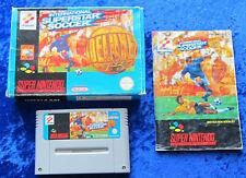 Super Soccer Deluxe, OVP Anleitung, SNES, Super Nintendo Spiel