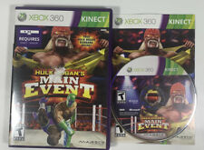 Hulk Hogan MAIN EVENT XBOX 360 Game Wrestling Requires Kinect Complete