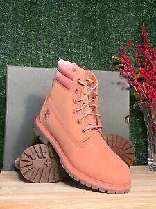 New Women's Timberland Waterville 6 inch  WP Boot Medium Pink Nubuck 0A1WVV