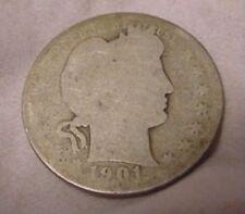 1901 O Barber Quarter Mintage of Only 1,612,000 SEMI KEY DATE