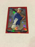 2013 BOWMAN CHROME MINI RED REFRACTOR ROOKIE COREY SEAGER REF RC /5