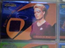 Star Trek 40th Anniversary trading cards - C25 & 25A Seven of Nine costume cards