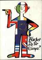1979 Europawahl Politik Motiv-AK Sonderstempel LEBACH Jumelage mit Metz