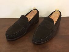 Allen Edmonds Cavanaugh Dark Brown Suede Penny Loafers Sz. 9.5 E
