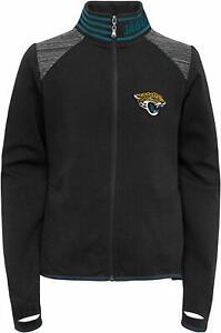 Outerstuff NFL Football Youth Girls Jacksonville Jaguars Aviator Full Zip Jacket