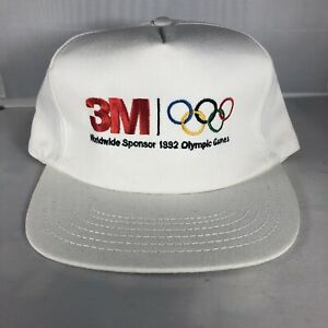 Vintage 1992 Olympic Games 3M USA Made White Snapback Hat Summer 90s Rare
