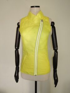 Lululemon WHAT THE FLUFF VEST Clarity Yellow Reversible Down Puffer Size 6