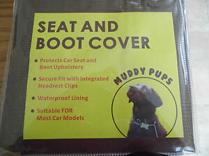 SEAT AND BOOT COVER  Suitable FOR most car models.