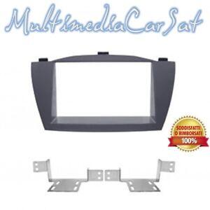 Mascherina Phonocar 2DIN Hyundai ix35 colore antracite 03572